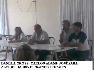 Toma de delegación municipal de Stroeder