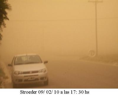 Una foto que se puede convertir en la postal de estos últimos días en Stroeder y la zona