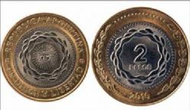 El Banco Central aprobó la emisión de la moneda de 2 pesos