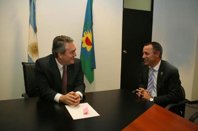 Garcés se reunió con el ministro Breitenstein