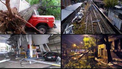 Seis muertos y graves daños dejó el furioso temporal