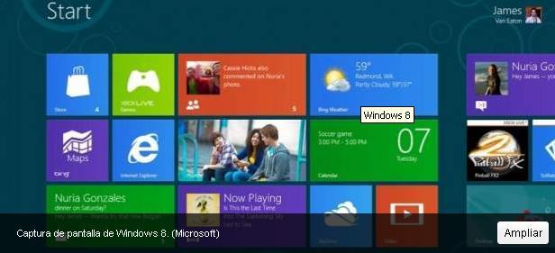 Microsoft pondrá a la venta Windows 8 a finales de octubre