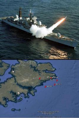 Fuerzas militares británicas lanzan misiles en las Islas malvinas