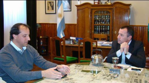 Garcés recibió al Director Provincial de Pesca