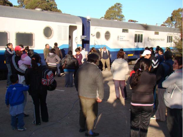 Más de 800 personas ya fueron atendidas en el Tren Sanitario de la Nación
