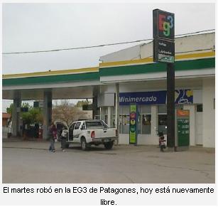Liberaron al asaltante del mini mercado de la EG3 en Patagones