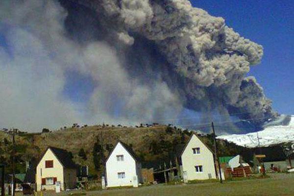 Entró en erupción el volcán Copahue