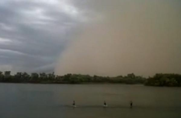 Nueva tormenta de tierra en Viedma y Patagones