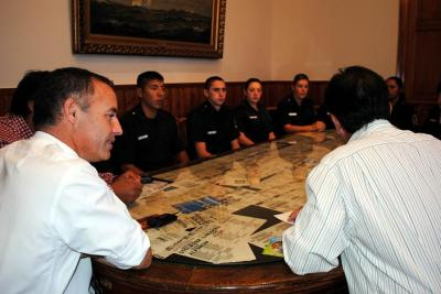 Garcés recibió a egresados de la policía bonaerense que prestan servicios en Patagones