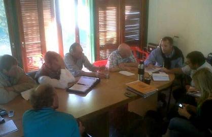 Garcés se reunió con entidades y vecinos en Stroeder