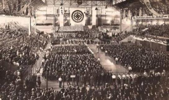 Revelan imágenes del acto nazi más grande del mundo fuera de Alemania en Argentina