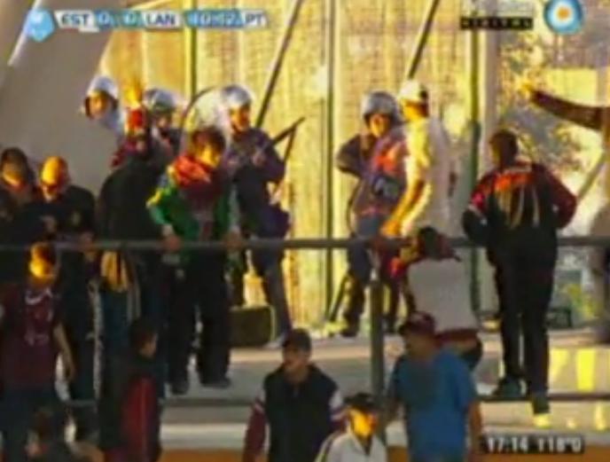 Un barra de Lanús murió en La Plata durante el partido ante Estudiantes