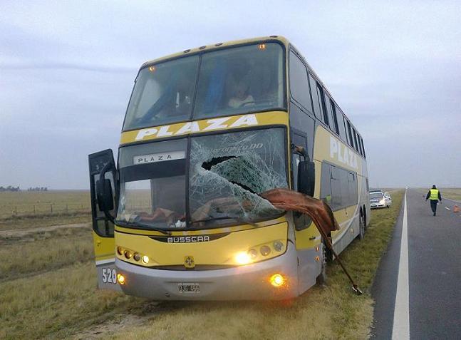 Micro accidentado en R3 Km 900