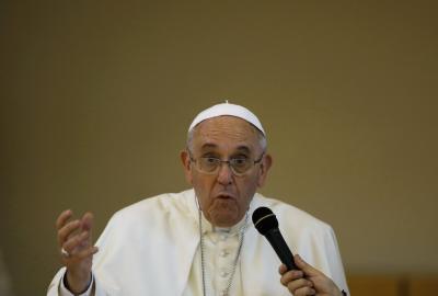 """El Papa criticó la """"hipocresía"""" de los religiosos que """"viven como ricos"""""""