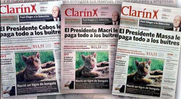 Ataque a Clarín: La Cámpora reparte un diario trucho